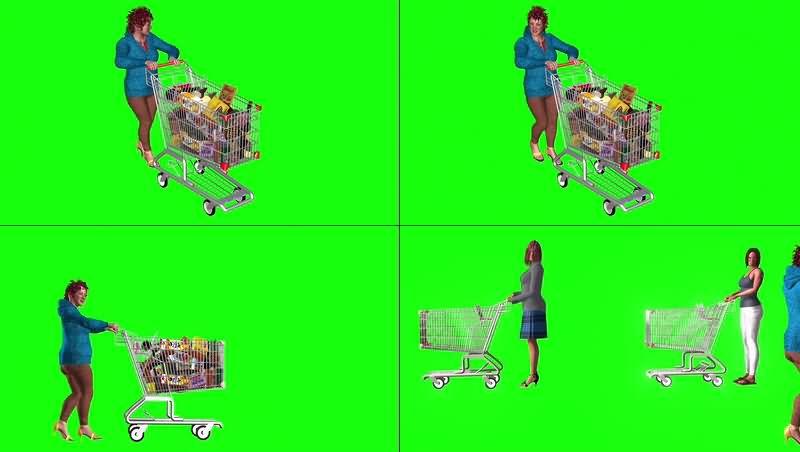 绿幕视频素材购物