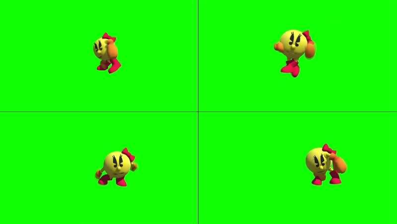 绿幕视频素材3D表情