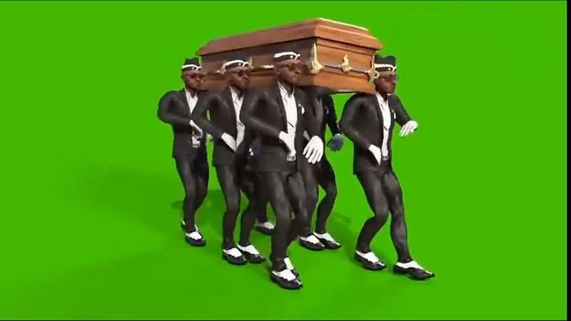绿幕视频素材黑人抬棺