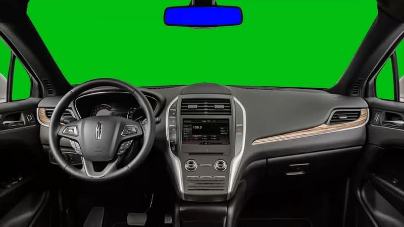 绿幕视频素材开车