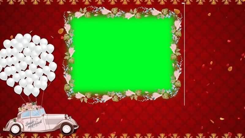绿幕视频素材婚礼相框