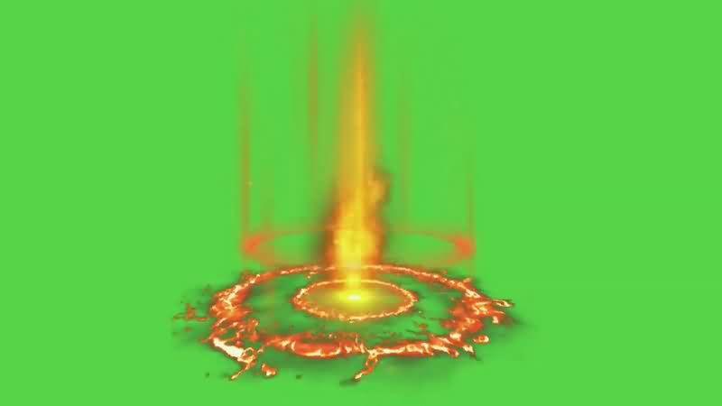 绿幕视频素材火光