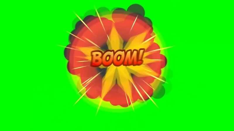 绿幕视频素材爆炸