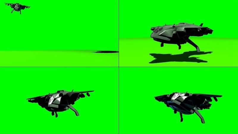 绿幕视频素材鹈鹕号运兵机