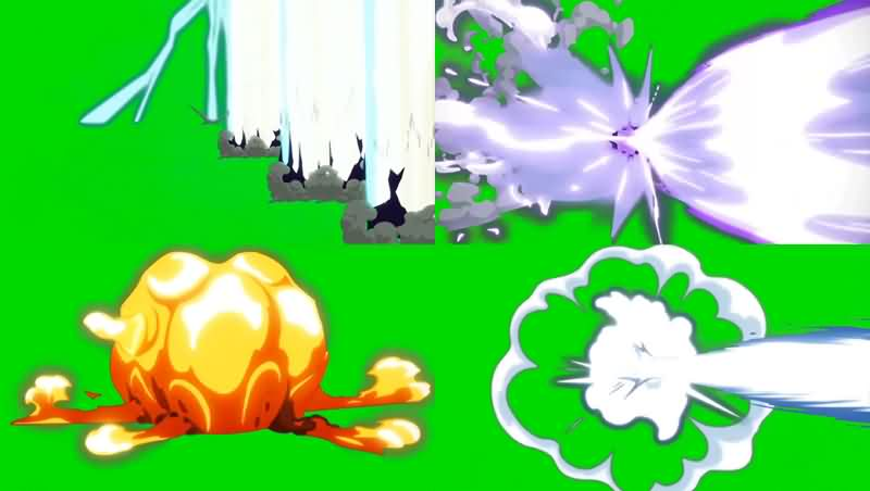 绿幕视频素材动漫攻击特效