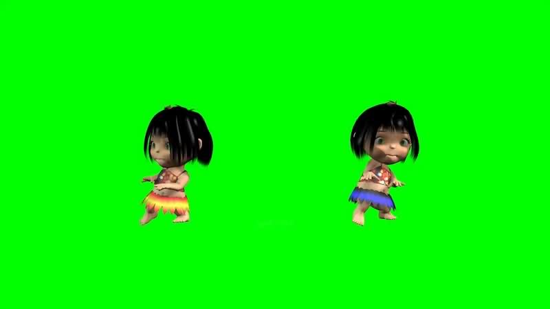 绿幕视频素材跳舞娃娃