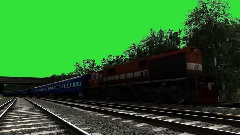 绿幕视频素材铁道火车