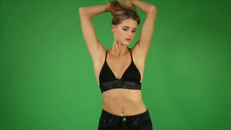 绿幕视频素材性感美女