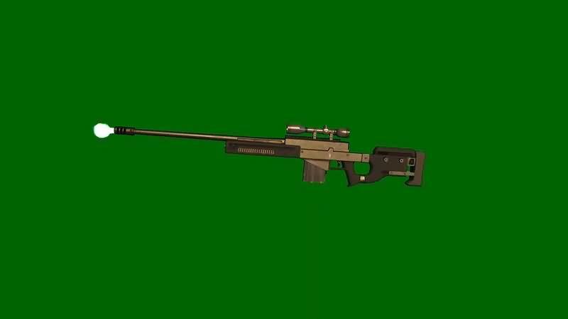 绿幕视频素材AWM阻击枪