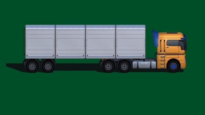 绿幕视频素材大货车