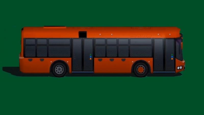 绿幕视频素材公交车