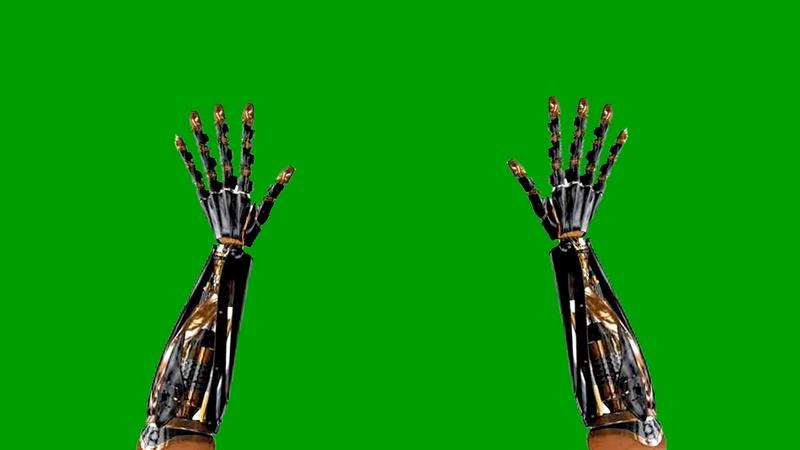 绿幕视频素材机械手臂