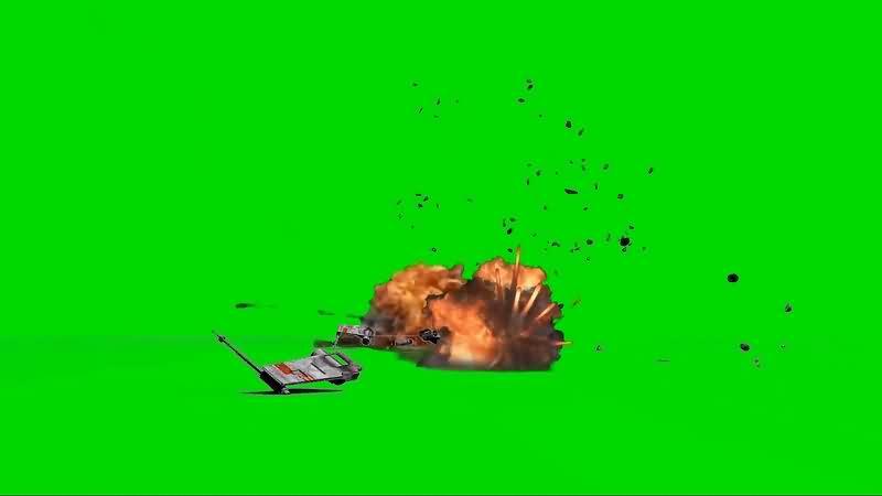 绿幕视频素材飞船爆炸