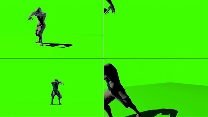 绿幕视频素材僵尸