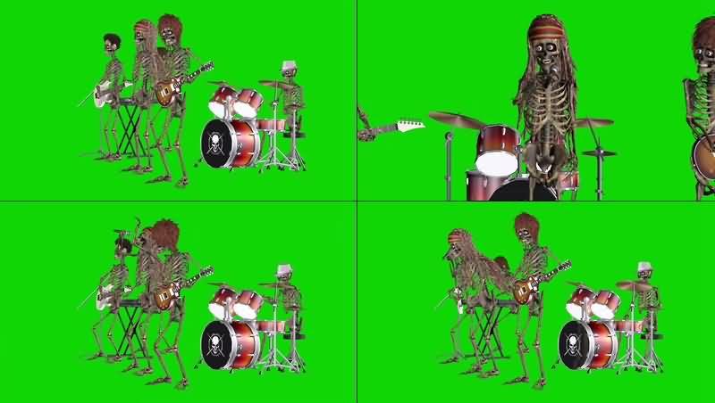 绿幕视频素材打鼓