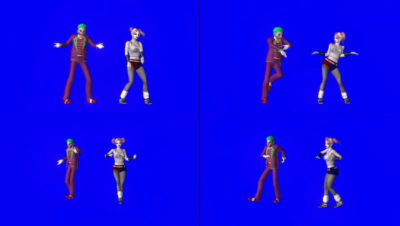 绿幕视频素材小丑跳舞