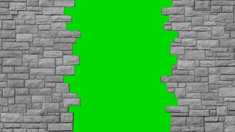 绿幕视频素材门墙