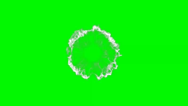 绿幕视频素材魔法冲击波