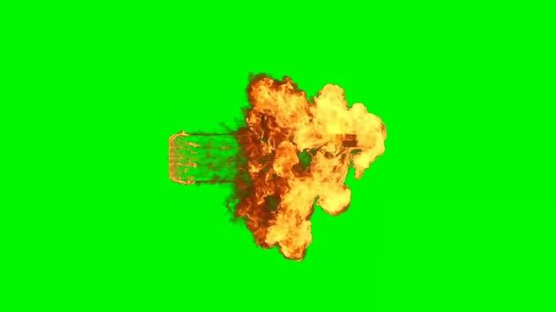 绿幕视频素材魔法火焰