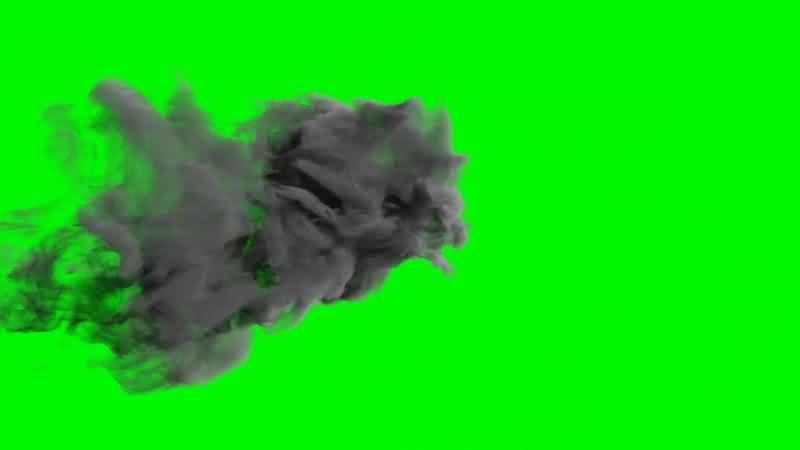绿幕视频素材魔法烟雾