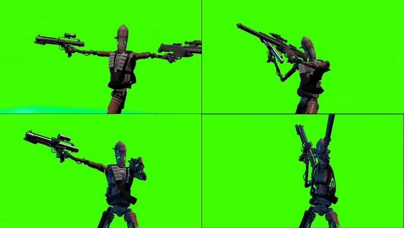 绿幕视频素材IG-11机器人