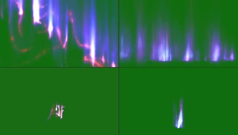 绿幕视频素材极光