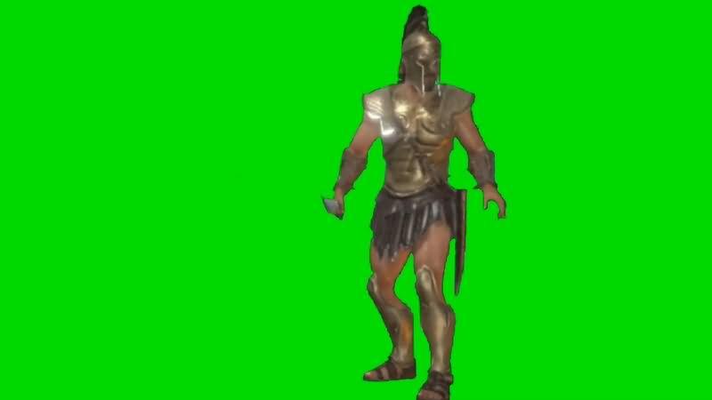 绿幕视频素材斯巴达战士
