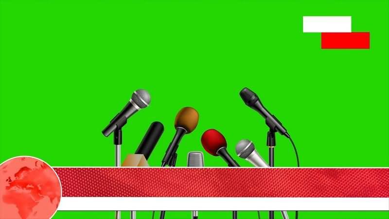 绿幕视频素材新闻发布会