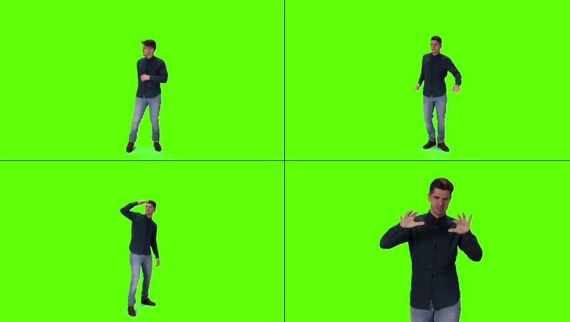 绿幕视频素材真人演员