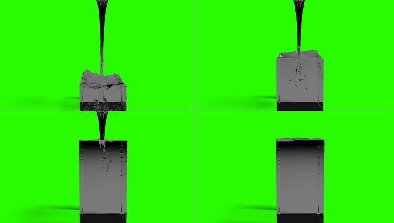 绿幕视频素材倒水