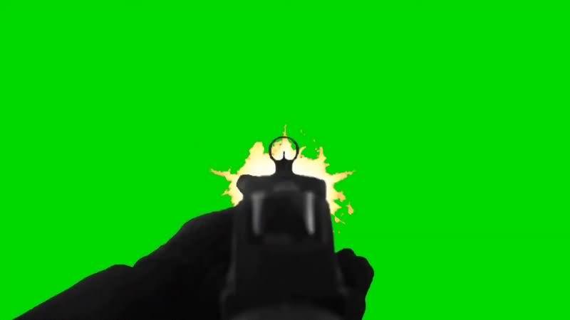 绿幕视频素材吃鸡射击