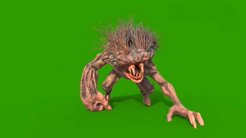 绿幕视频素材怪兽
