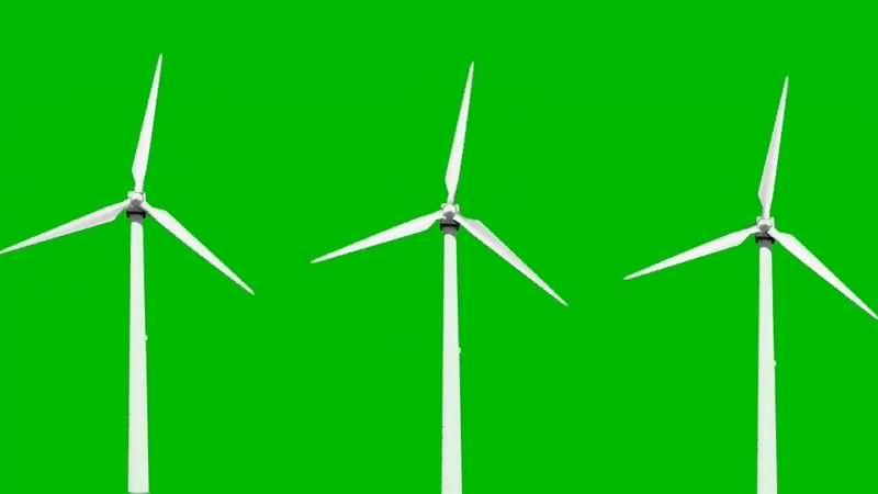 绿幕视频素材风车