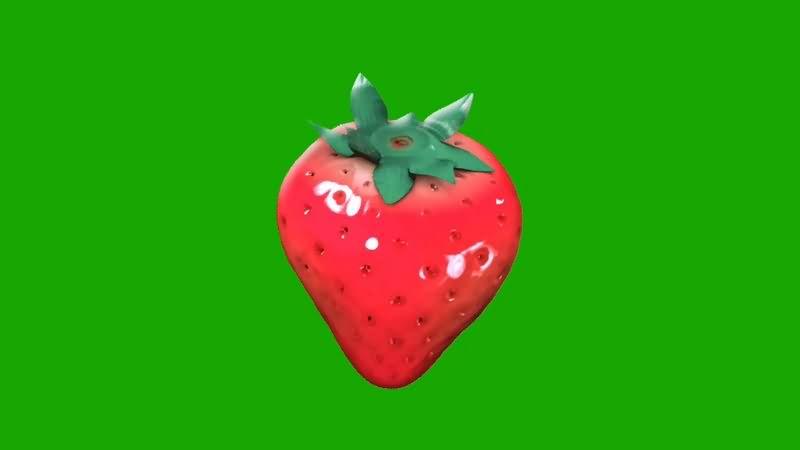 绿幕视频素材草莓