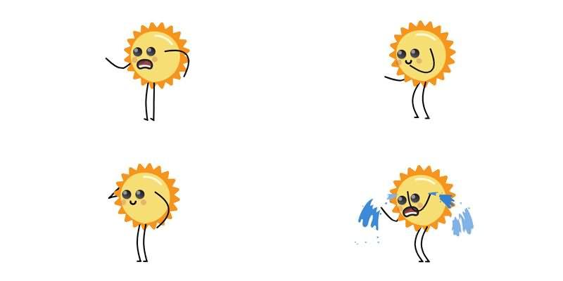 太阳花表情视频素材[84款]