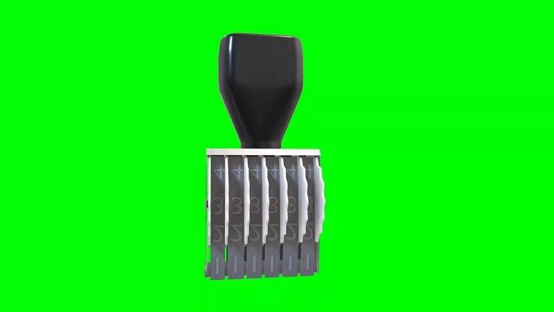绿幕视频素材打号机