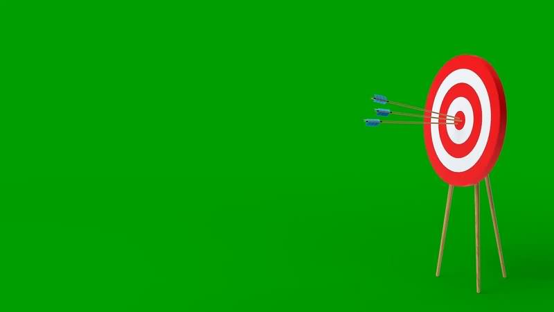 绿幕视频素材射箭打靶