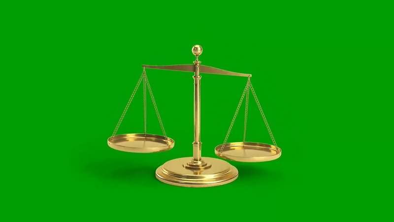 绿幕视频素材天秤