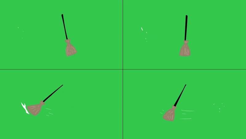 绿幕视频素材拖把