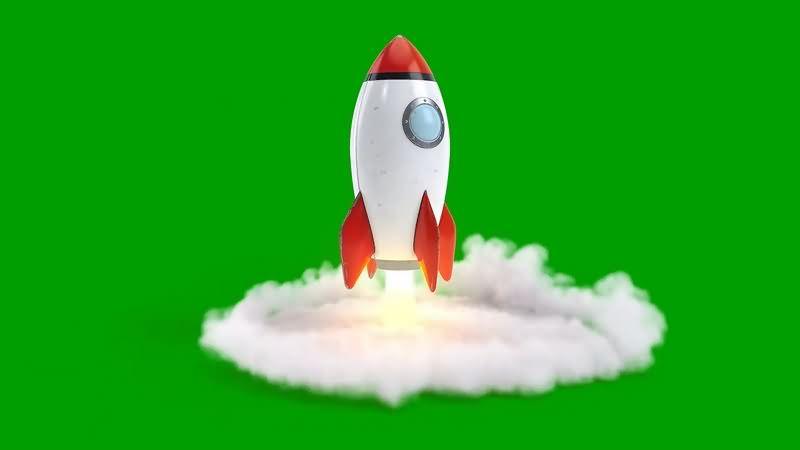 绿幕视频素材火箭