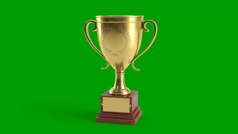 绿幕视频素材奖杯