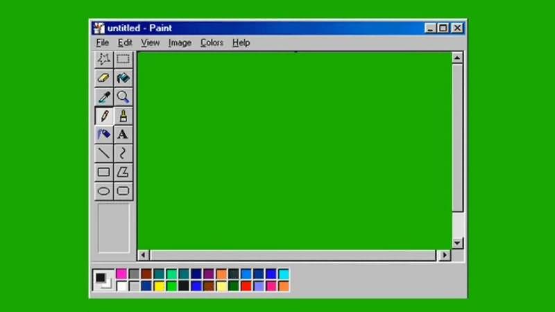 绿幕视频素材WINDOWS画板