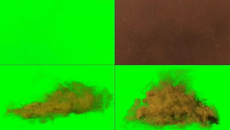 绿幕视频素材沙尘暴