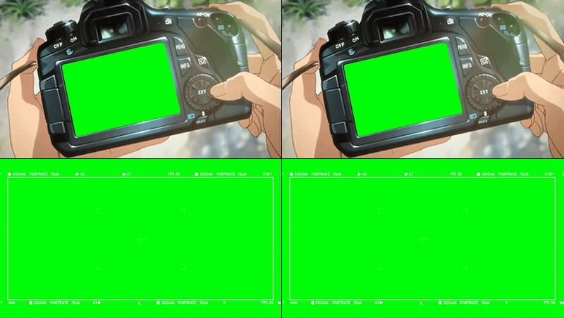 绿幕视频素材数码相机