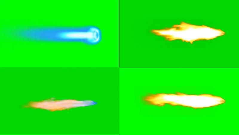 绿幕视频素材火焰推进器