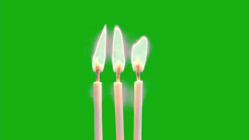 绿幕视频素材蜡烛