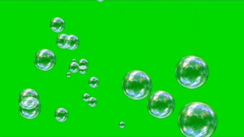 绿幕视频素材透明气泡