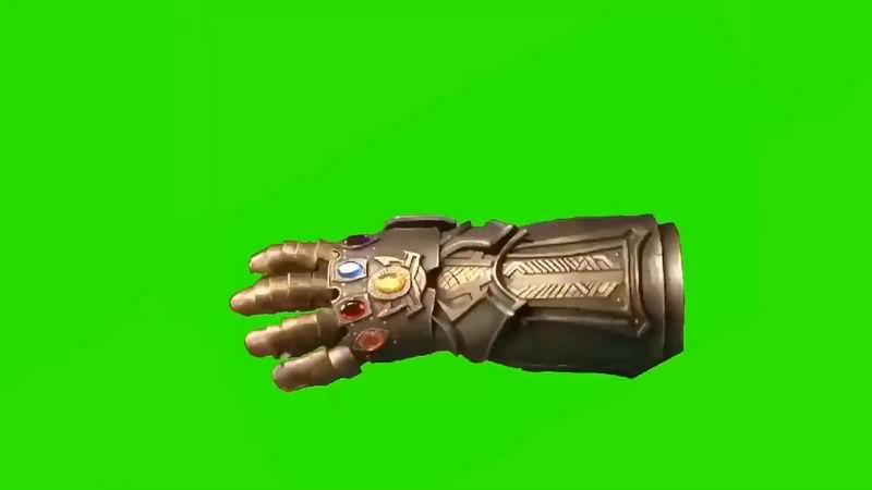 绿幕视频素材无限手套