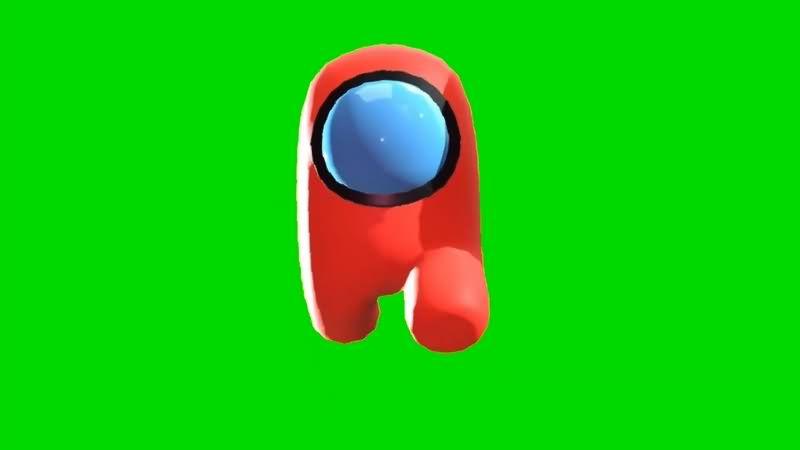 绿幕视频素材Among Us游戏人物