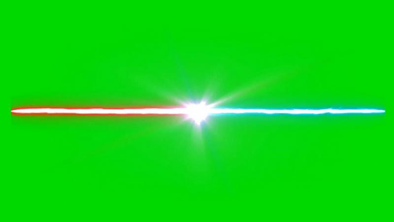 绿幕视频素材激光射线